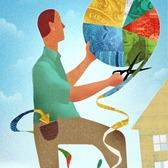 Mick Wiggins - Budget, Costs, Efficiency, Growth, Investments, Money, Pie Chart, Planning, Saving, Scissors